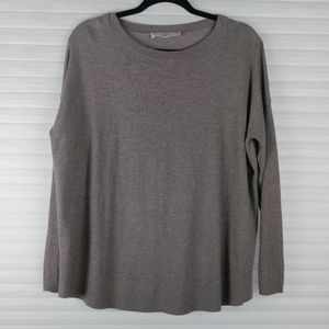 Loft Brown Relaxed Fit Sweater Sz S